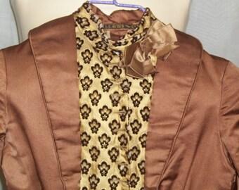 Vintage Girls Antique Edwardian Victorian Bustle Bodice Blouse Jacket L. S. Ayres Steampunk