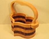 Heart Basket with Handle Handmade