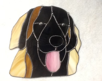 Leonberger Stained Glass Suncatcher