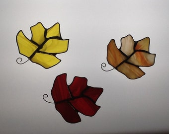 Mini Maple Leaf in Stained Glass