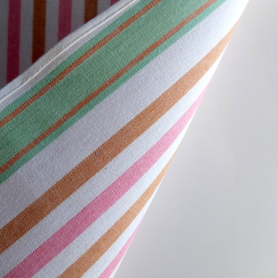 Retro Kitchen 1950s Italian Linen Striped Cotton Kitchen