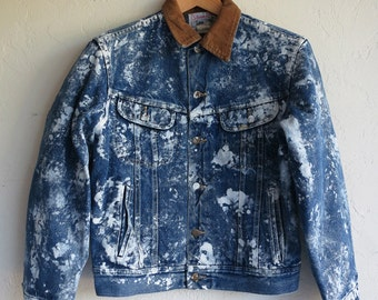 The Customized Paint Sponged Lee Denim Jacket