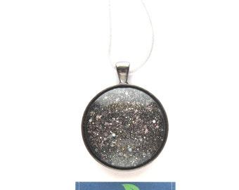 Zero-G Round Circle Shaped Nail Polish Pendant Necklace - Nail Polish Jewelry