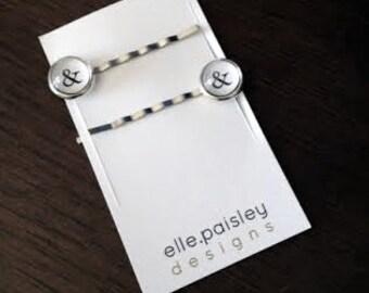 Ampersand Bobby pins // Typewriter  bobby pins