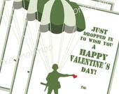 Printable Army Drop In Valentine Cards