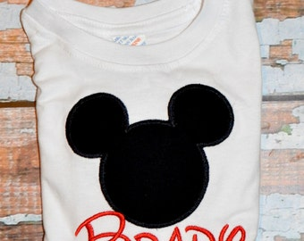 Mickey Mouse Shirt, Embroidered Mickey Mouse Shirt, Boys Shirt