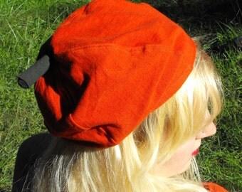 Orange Pumpkin Halloween Fall Hat