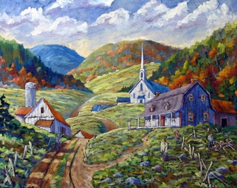 A Day In Our Valley Large Original Painting by Prankearts