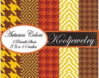 Autumn colors Paper pack - No. 141