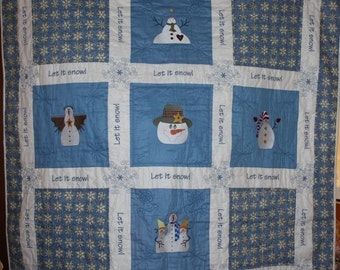 Frosty the Snowman Quilted Wallhanging