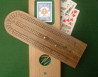 Cherry-Walnut Two-Tier Cribbage Board