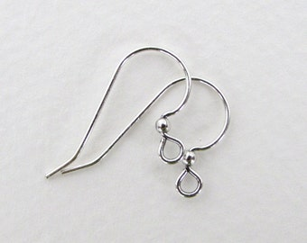 Earwires Silver Plated French Hooks Vintage Style Bright 25mm erw0122 (12)