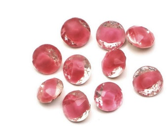 60ss Rose Clear Givre, Rhinestones-TP Dentelles, New Old Stock, x10