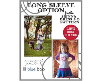 DIY PDF Pattern and Tutorial - Long Sleeve Option for Sienna Dress 2.0