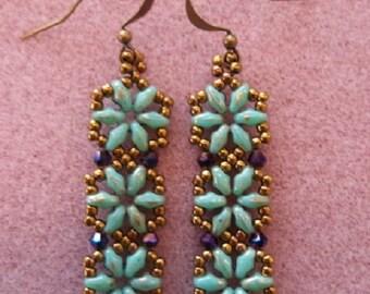 Hexagon Duo Earring KIT (Turquoise)