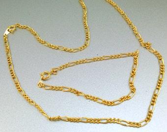 Gold Chain Necklace Bracelet Set
