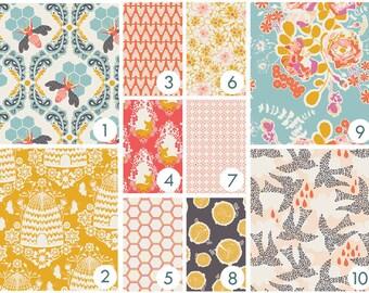 Baby Bedding - Sweet Honey Bee Custom Crib Bedding - Coral, Peach, Teal, Aqua, Yellow