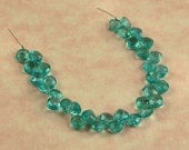 Gem Quality AAA PARAIBA APATITE Faceted Cushion Cut Briolette Beads - 5mm