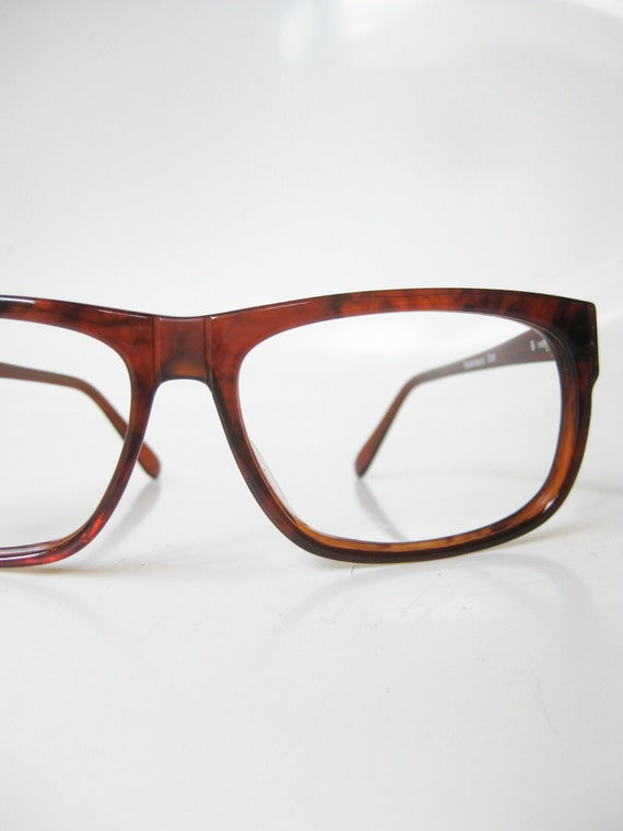 Mens Hipster Eyeglass Frames : Rodenstock Eyeglasses Mens Horn Rim Glasses 1980s Hipster Chic
