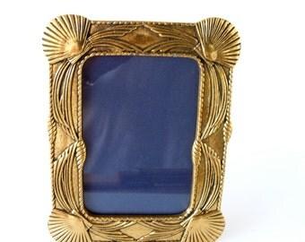 Shell Brass Photo Frame