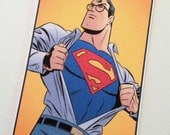 Clark Kent Superman Luggage Bag Tag Personalized