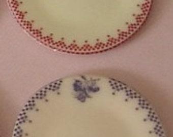 Two Plates - Damier Rouge & Damier Bleu