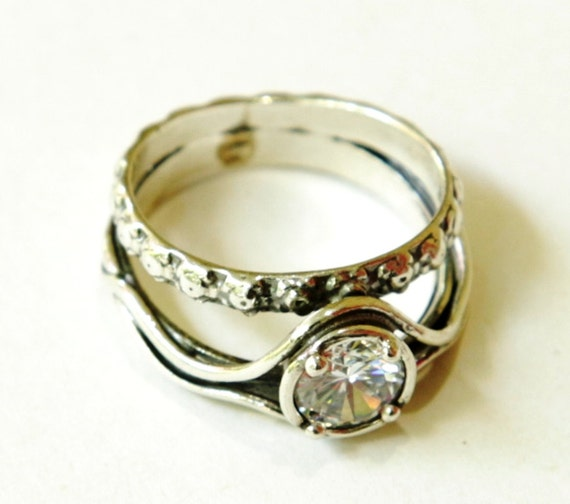 woman ring silver jewellery boho engagement ring Israeli