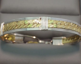 Sterling Silver & Gold Bracelet