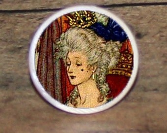 MARIE ANTOINETTE Tie tack or Cuff links or Ring or Pendant or Brooch