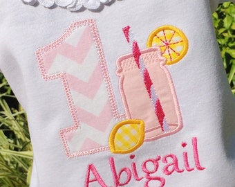 Girls Lemonade themed Birthday Shirt