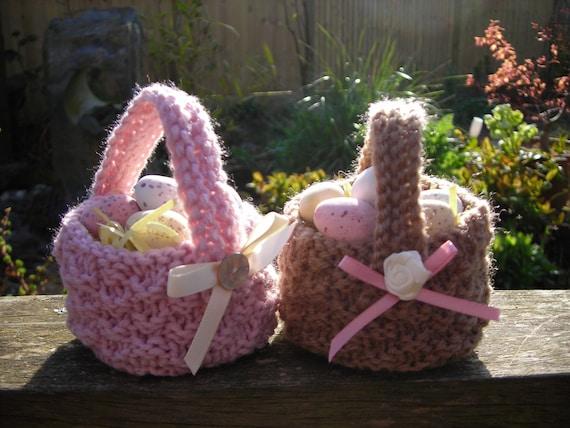 Knitting Easter Baskets : Easter mini basket knitting pattern pdf