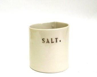large salt cellar   ...   hand built porcelain vessel   ...   salt pig