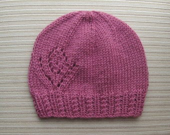 Knitting Pattern #165 Hat with a Large Lacy Flower for a Lady