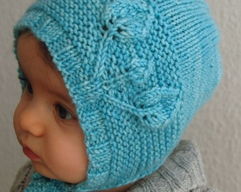 Petites Feuilles Bonnet PDF knitting pattern