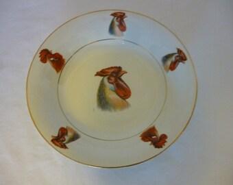 Vintage Small Rooster Bowl, Glenwood