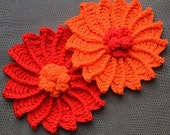 Large Crochet Sunflower Pattern PDF