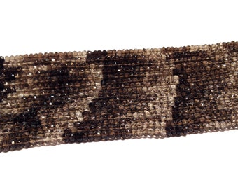 Smoky quartz DARK shaded premiun quality gemstone faceted rondelles WHOLE STRAND Great stone Quality