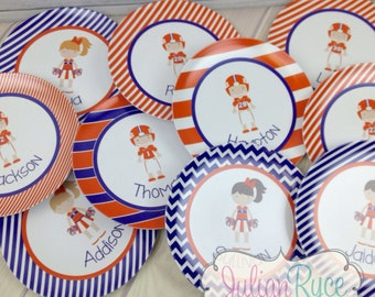 Personalized Clemson Football Player Melamine Plate