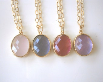 Jewelry Sale, Pink Necklace, Amethyst Necklace, Gold Necklace, Ruby Necklace, Lavender Necklace