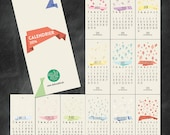 2014 wall Calendar with patterns