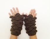 New Winter Season Olive Green  Fingerless Gloves Armwarmers