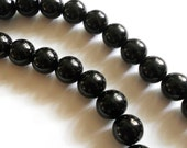 Black stone, onyx gemstones, onyx 8mm beads, gemstone beads, 30 pc