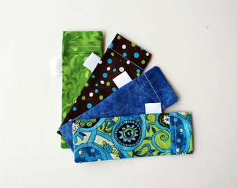 DPN Storage Pocket  Sock Needle Protector  5 inch needles Set of four  gift for knitter Modern Paisley Quiltsy Handmade