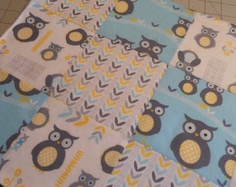 """Security Blanket in """"OWLS""""...The Perfect Blankie for your Little One"""