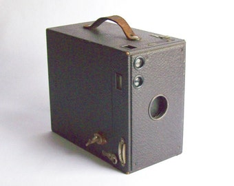 Antique Box Camera Brownie Model A Collectible Eastman Kodak