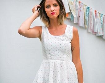 SALE White Blouse, Summer Tank Top, Peplum Tops for Women, Peplum Skirt, Cotton Tops, Summer Fashion