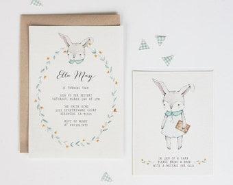Kid / Baby Birthday Party - Bunny & Books