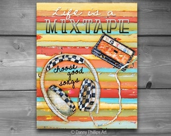 INSTANT DOWNLOAD, Life is a Mixtape - Walkmen, Digital Download, Printable, 8x10 and 11x14