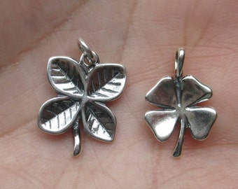 Sterling Silver Four Leaf Clover(one charm)You choose which one