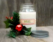 NOEL Pine Scented Christmas Candle / Home Decor /  Holiday Candles